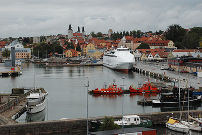 Entering the harbor of Visby, Gotland