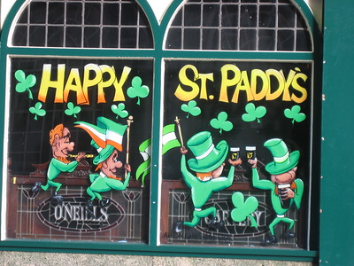 Pub window in Temple Bar, Dublin