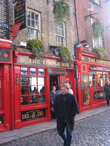 Outside the Temple Bar, Dublin