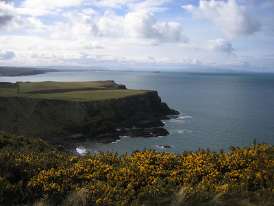 Cliffs along the coast of Northern Ireland