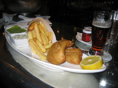 Smithwick's and Fish and Chips at the Fitzwilliam's Bar, Dublin