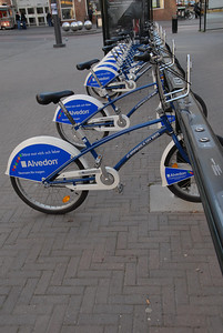 Rental bikes in the neighborhood of Sodermalm, Stockholm