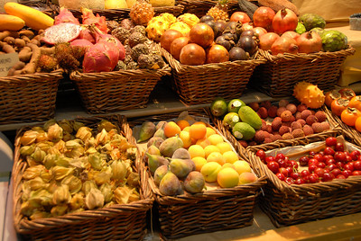 Exotic fruits at Hotorgshallen