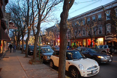 Downtown Rhinebeck at dusk