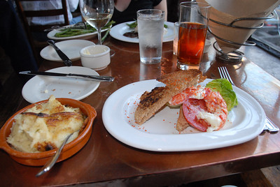 Lobster BLT and mashed potatoes at Fore Street
