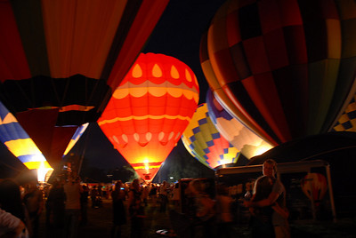 Balloon glow at Forest Park