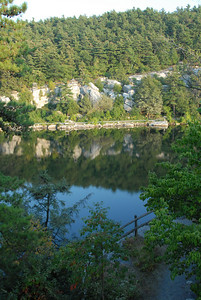 View of Lake Mohonk from our balcony