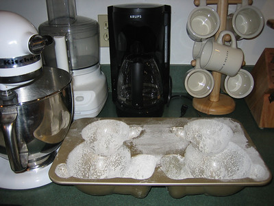 Build-A-Bear cake mold, floured and ready to be filled