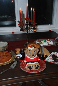 Santa bear and the back up desserts