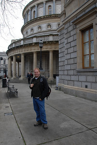 Outside the National Museum of Ireland