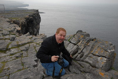 Sean on the cliff's edge at Dun Aenghus